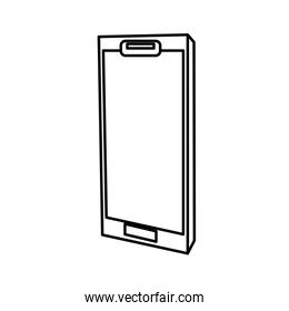device smartphone line style isolated icon