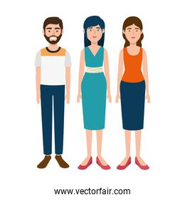 group of young people avatar characters