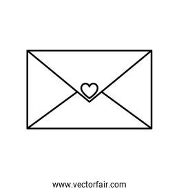 envelope with heart isolated icon