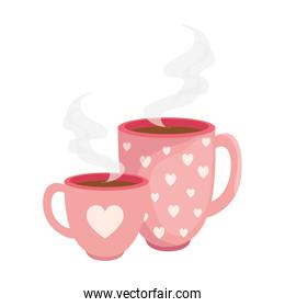 cups coffee delicious isolated icon