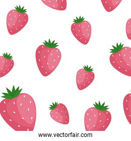 background of delicious strawberries fruits