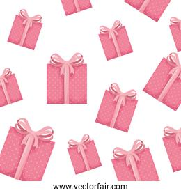 background of gift boxes presents