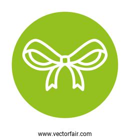 silhouette of ribbon on green background
