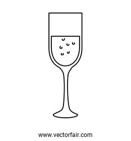cup of glass line style icon