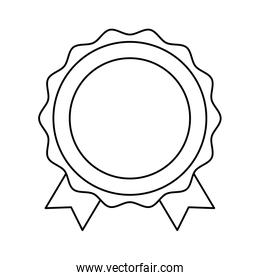 Isolated seal stamp and ribbon vector design