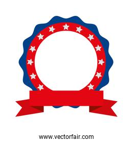 Isolated usa seal stamp vector design