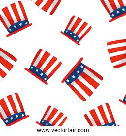 Isolated usa hats background vector design