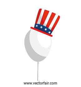 Isolated usa balloon with hat vector design