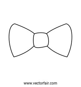 Isolated male bow tie line style icon