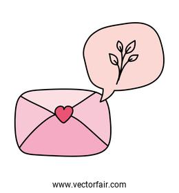 envelope mail and speech bubble isolated icon