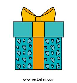 gift box present isolated icon