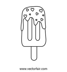 ice cream in stick isolated icon