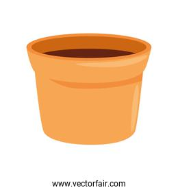 flower pot ceramic isolated icon