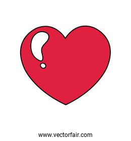 cute heart love isolated icon