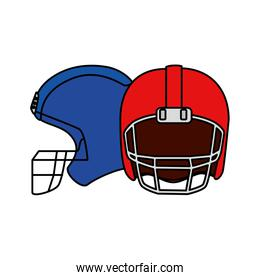 american football helmets isolated icon