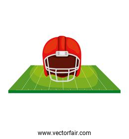 field and american football helmet isolated icon