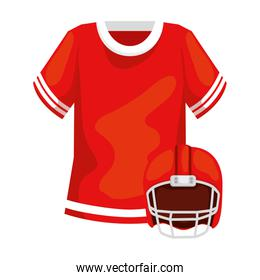 shirt and american football helmet isolated icon