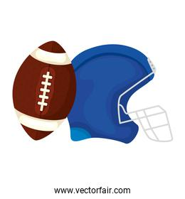 helmet and ball american football isolated icon