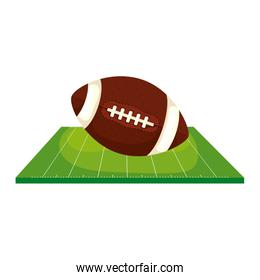 field and ball american football isolated icon