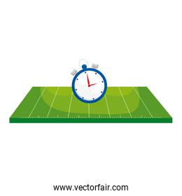 field american football with chronometer