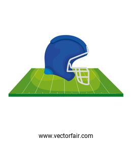 helmet and field american football isolated icon
