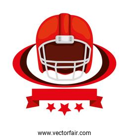 american football helmet with ribbon and stars