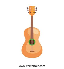 wood guitar instrument musical isolated icon