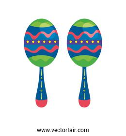 maracas musical instrument isolated icon