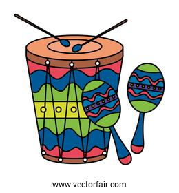 maracas with drum musical instruments