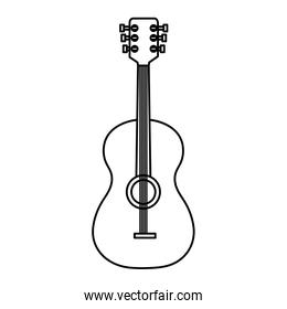 guitar instrument musical linear style