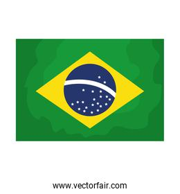 flag of brazil isolated icon