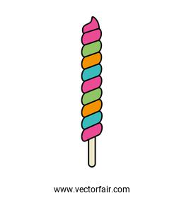 candy spiral in stick isolated icon
