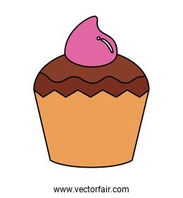 delicious cupcake pastry isolated icon