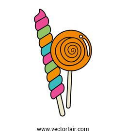 candy spiral in stick with lollipop