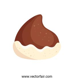 delicious chocolate chip isolated icon