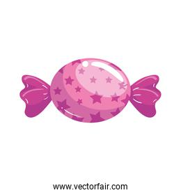 candy in wrap isolated icon
