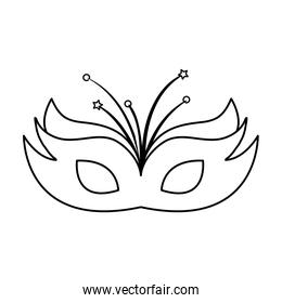 mask carnival traditional isolated icon