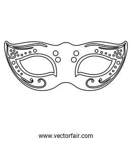 elegant mask fantasy isolated icon