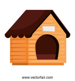 wooden dog house isolated icon