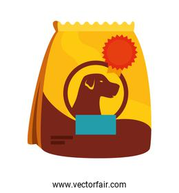 bag of food for dog isolated icon