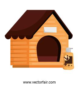 wooden dog house with care product animal