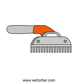 comb pet grooming isolated icon