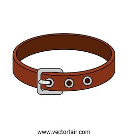 collar for dog isolated icon