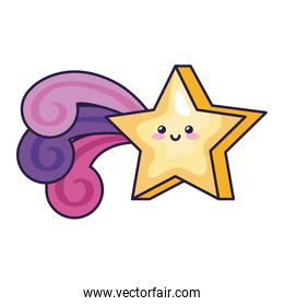 cute shooting star magic kawaii style