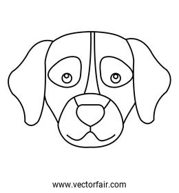 face of dog line style icon