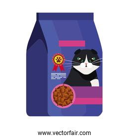 food for cat in bag blue