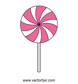 delicious lollipop caramel isolated icon