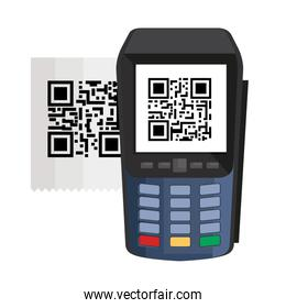 dataphone with scan code qr