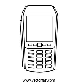 dataphone device technology line style icon