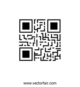 classic qr code isolated icon